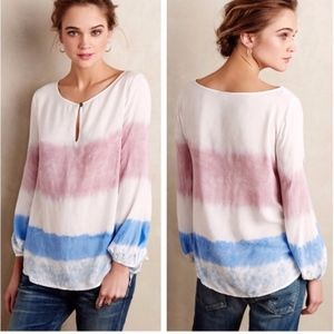Holding Horses Tie Dye Long Sleeve Blouse Top